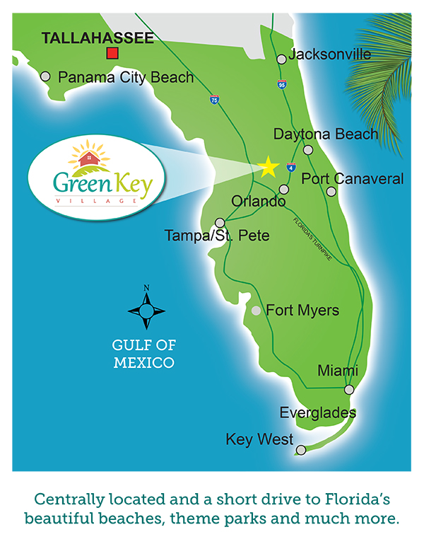Green Key Village Location Map